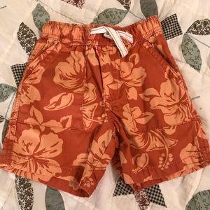 Cute Hawaiian print shorts 18-24 months